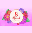 banner for international happy womens day vector image