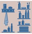 Bathroom elements vector image
