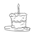 birthday cake black vector image