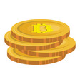 bitcoin electronic money icon vector image