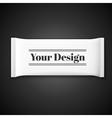 Blank white plastic sachet for medicine condoms vector image vector image