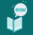 book silhouette for reading design vector image vector image