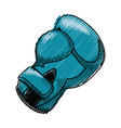 boxing glove equipment vector image vector image