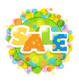 Bright Sale Poster With Bokeh vector image vector image