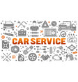 car service banner vector image vector image