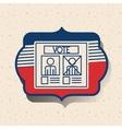 Card of vote inside frame design vector image vector image