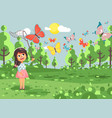 cartoon character lonely child vector image vector image