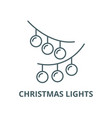 christmas lights line icon linear concept vector image