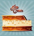 delicious ice cream cookie vector image