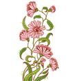 doodle floral sketchy bouquet vector image vector image
