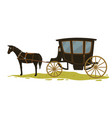 equine transport in medieval city or town vector image