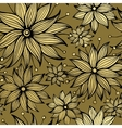 Floral golden seamless pattern vector image
