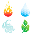 four elements vector image vector image