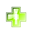green cross isolated on the white vector image vector image