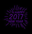 Happy new year 2017 calendar cover typographic vector image