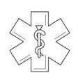health care symbol line icon vector image