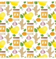 Healthy food pattern vector image vector image