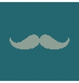 Hipster trend vintage knitted moustache on blue vector image vector image