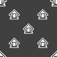 House icon sign Seamless pattern on a gray vector image vector image
