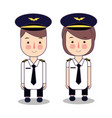 kids in professions cartoon airplane pilot vector image