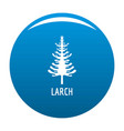 larch tree icon blue vector image vector image