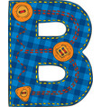 letter b in patchwork style
