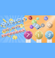 lottery bingo game poster banner template vector image vector image