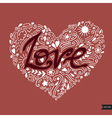 Love postcard Lettering Love Ink Modern brush vector image vector image