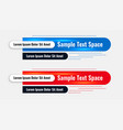 lower third blue and red banners set vector image vector image