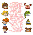 maze game little girls and hats vector image vector image