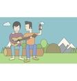 Men playing guitar vector image vector image