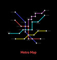 metro map sign color line card vector image vector image