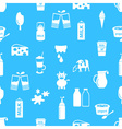 milk and milk product theme icons seamless pattern vector image vector image