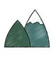 mountains icon image vector image vector image