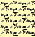 movie director stuff pattern vector image