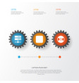music icons set collection of datacenter pause vector image