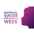 national suicide prevention week holiday concept vector image vector image
