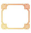 octagonal frame desig vector image
