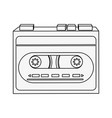 old cassette recorder vector image vector image