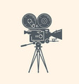 old movie camera filming cinema video symbol vector image vector image