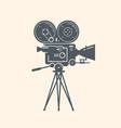 old movie camera filming cinema video symbol vector image