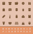 Package color icons on brown background vector image vector image