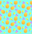 pattern with pineapples and ice cream vector image vector image