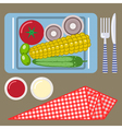 Picnic time nature outdoor recreation napkin vector image vector image