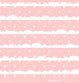 pink and white polka dot clouds baby seamless vector image vector image