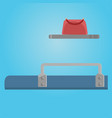 place at train shelf and bag traveling situation vector image vector image