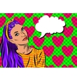 Pop Art Woman - on a polka-dots background vector image vector image