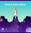 projects template space exploring vector image vector image