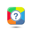 question color rectangle symbol icon vector image