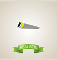 realistic saw element of vector image vector image